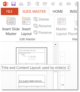 Slide Master PowerPoint