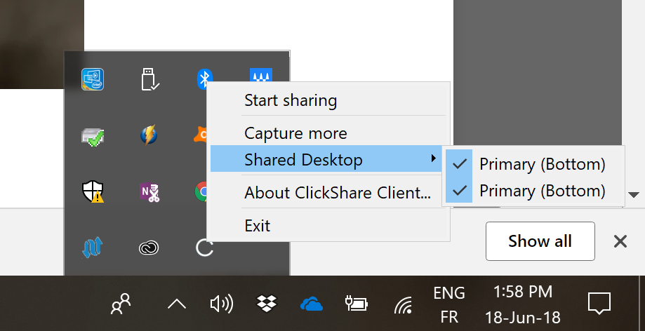 enable powerpoint presenter view using clickshare