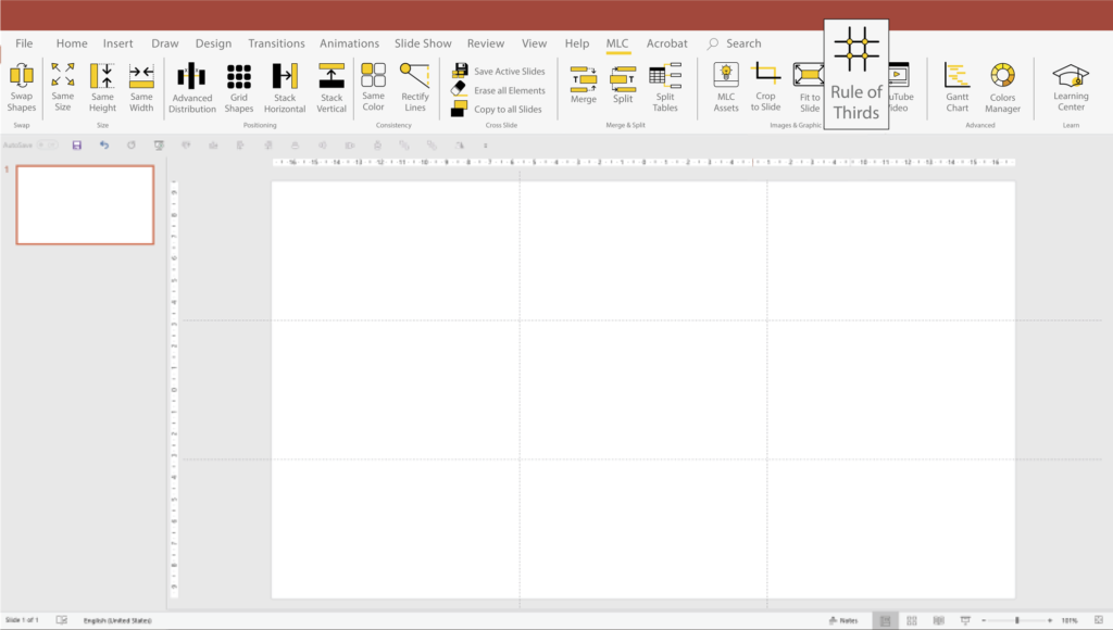Creating an effective presentation in PowerPoint with the