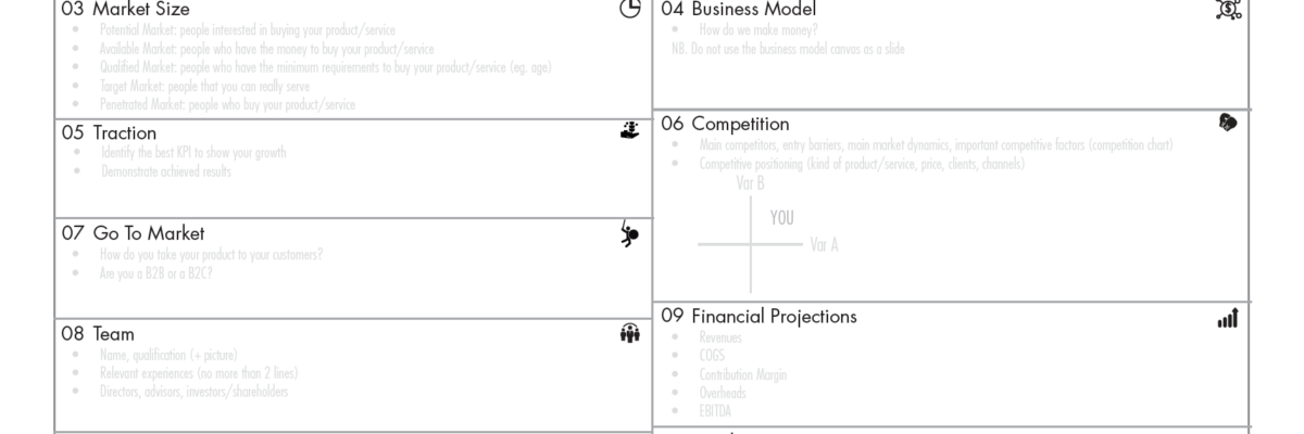 investor pitch canvas